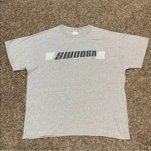 a5dfe4c720795 Vintage 90's Nike Tag Swoosh Spellout T Shirt XL